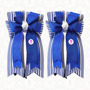 "Featured Product! Kat 3"" Tail Bow - Blue"