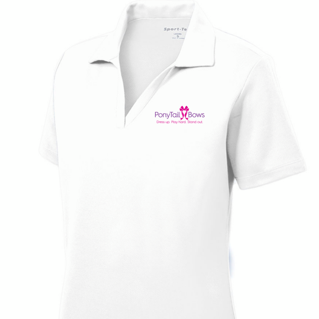PTB Custom V Neck Polo Shirt - Women's