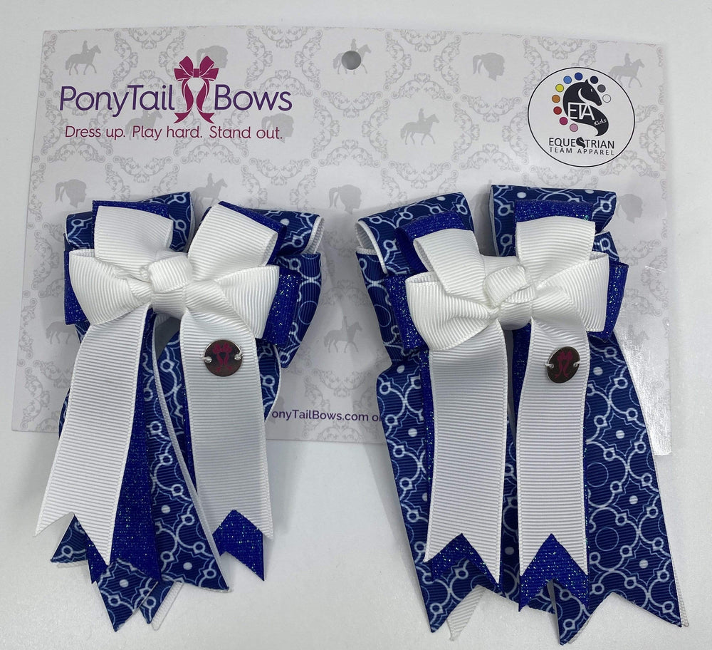 Jane Navy PonyTail Bows