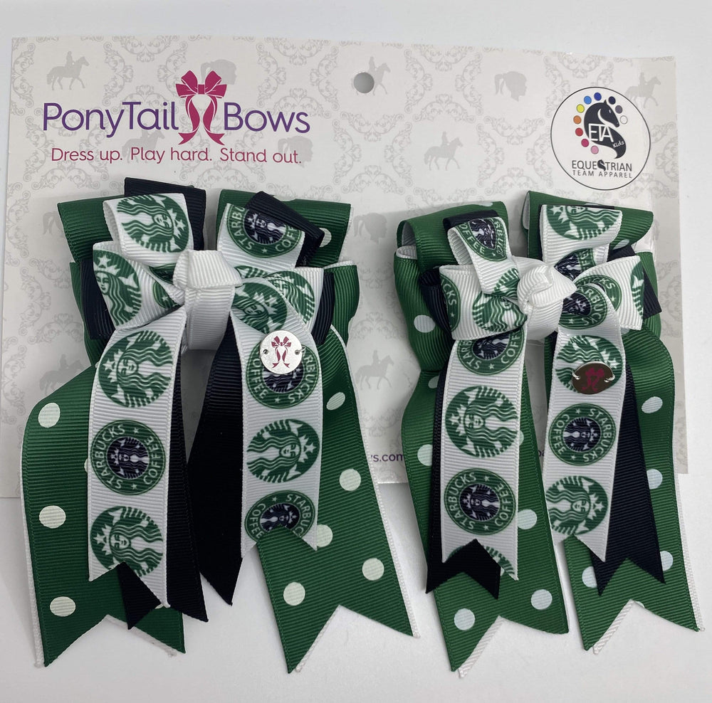 Starbucks Polka Dot PonyTail Bows