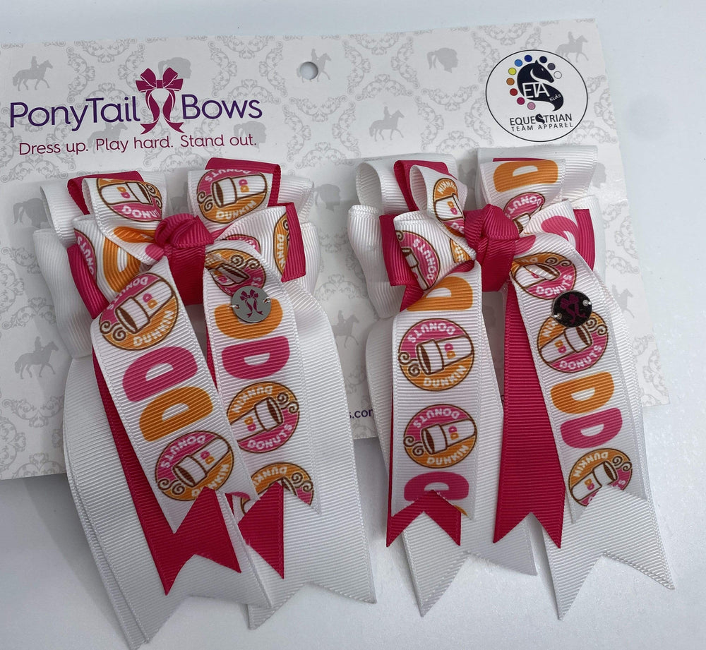 "PonyTail Bows 3"" Tails Dunkin Pink PonyTail Bows equestrian team apparel online tack store mobile tack store custom farm apparel custom show stable clothing equestrian lifestyle horse show clothing riding clothes PonyTail Bows 
