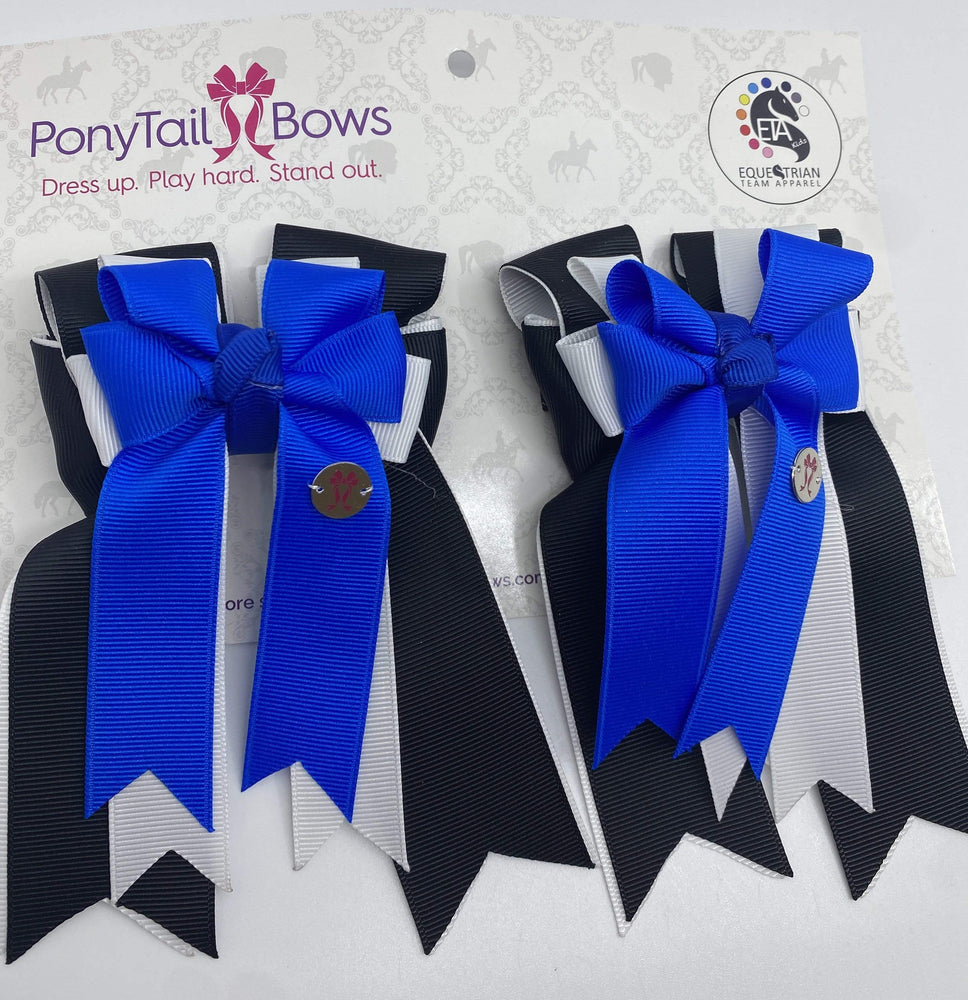 Black/White Royal PonyTail Bows