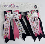 Unicorn Party PonyTail Bows