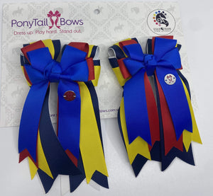 "PonyTail Bows 3"" Tails Champion PonyTail Bows equestrian team apparel online tack store mobile tack store custom farm apparel custom show stable clothing equestrian lifestyle horse show clothing riding clothes PonyTail Bows 