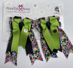 All The Hearts Lime PonyTail Bows