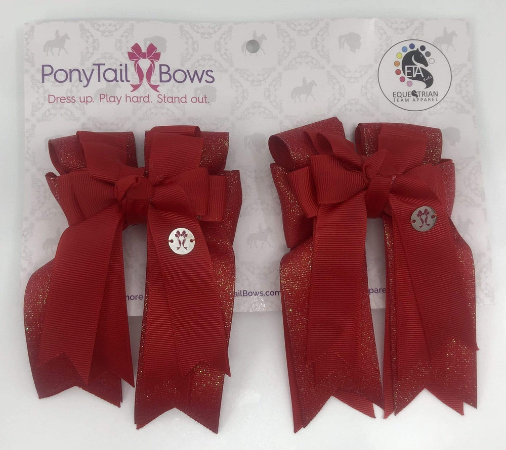 Red PonyTail Bows