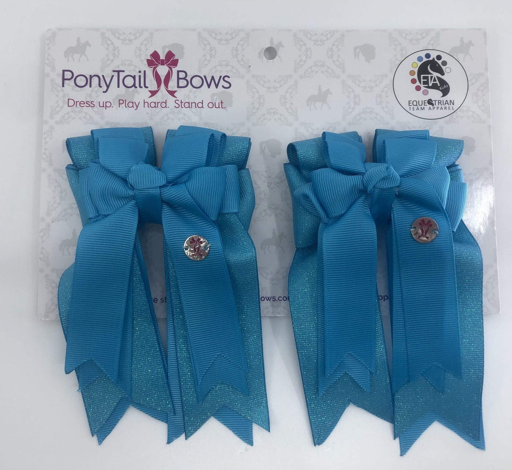 Turquoise PonyTail Bows