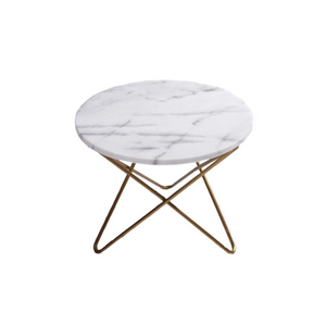 Reproduction of Manon Marble Side Table