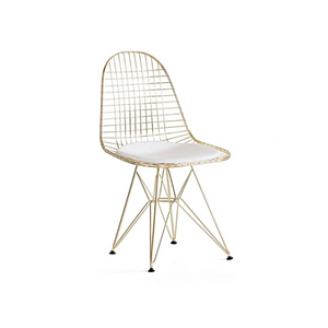 Reproduction of DKR Eiffel Gold Wire Chair