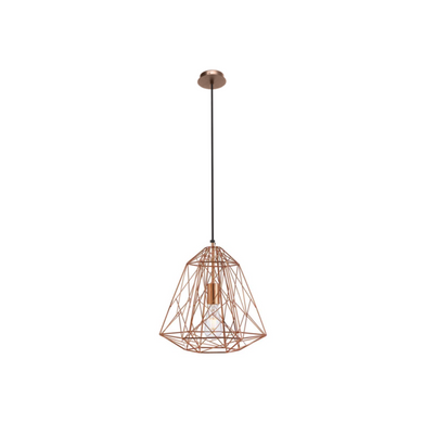 Copper Wire Geometry Pendant Lamp