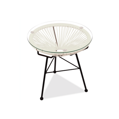 Reproduction of Acapulco Side Table - White