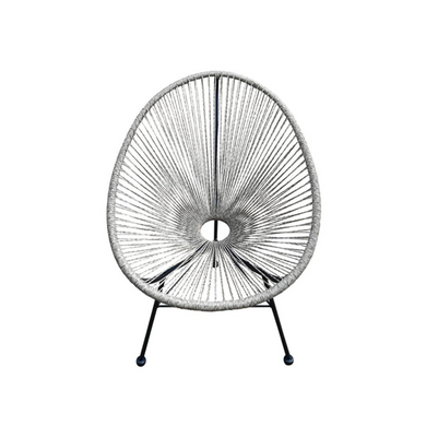 Reproduction of Acapulco Chair - White Grey