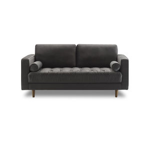 Bente Tufted Velvet Loveseat 2-Seater Sofa