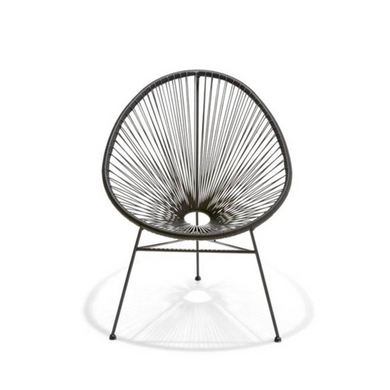 Reproduction of Acapulco Chair - Black