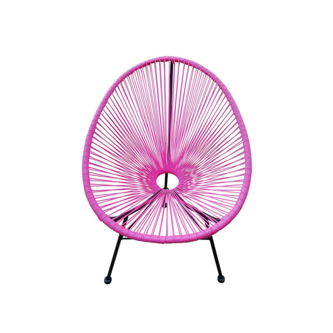 Reproduction of Acapulco Chair - Dark Pink