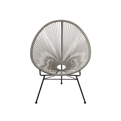 Reproduction of Acapulco Chair - Light Grey