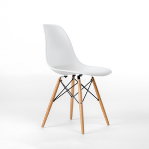 white eames eiffel chair light wood legs