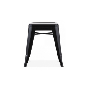 Reproduction of Xavier Pauchard Tolix Style Stool Chair - Black