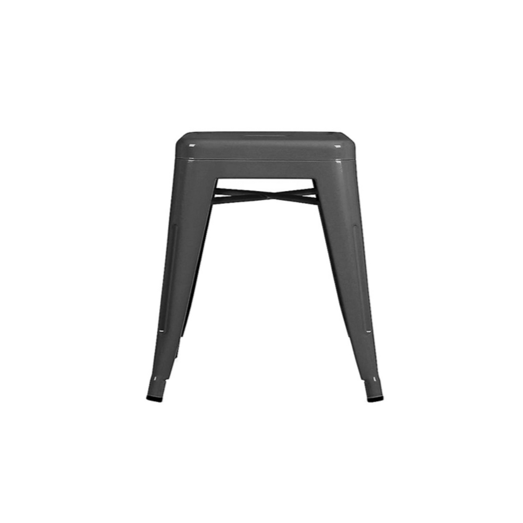 Reproduction of Xavier Pauchard Tolix Style Stool Chair - Gunmetal