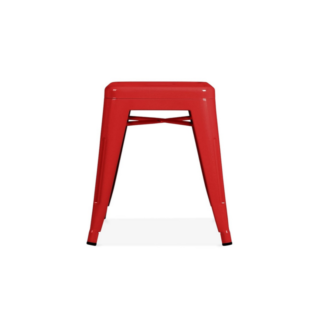 Reproduction of Xavier Pauchard Tolix Style Stool Chair - Red