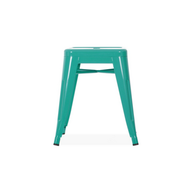 Reproduction of Xavier Pauchard Tolix Style Stool Chair - Turquoise