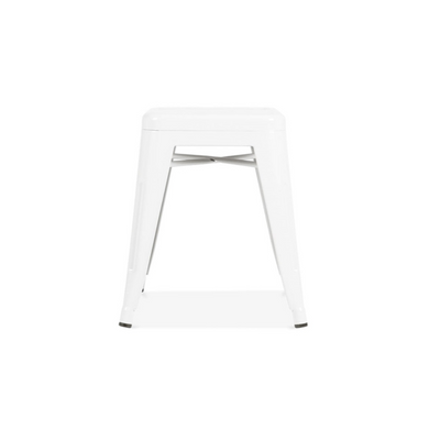 Reproduction of Xavier Pauchard Tolix Style Stool Chair - White