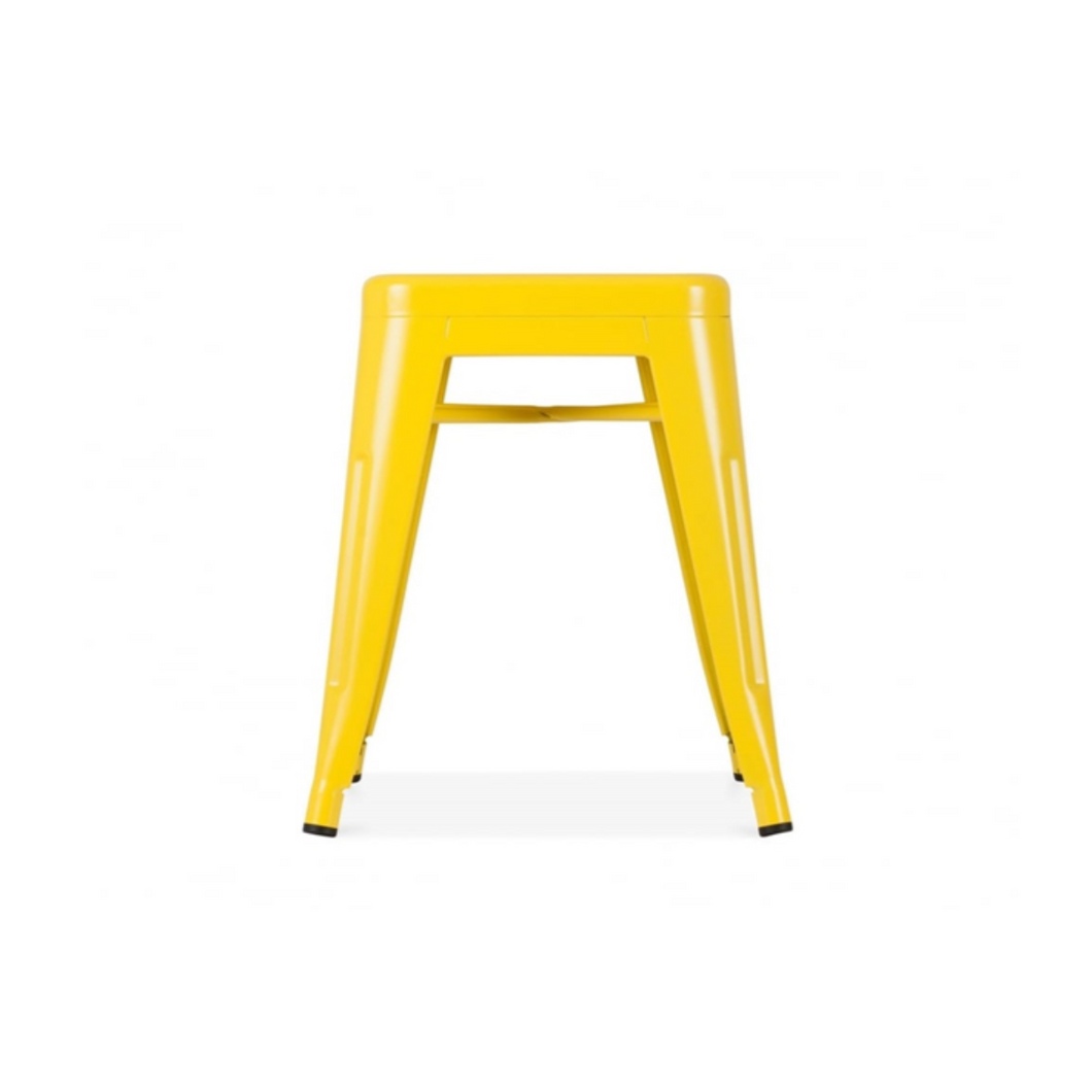 Reproduction of Xavier Pauchard Tolix Style Stool Chair - Yellow