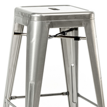 Reproduction of Xavier Pauchard Tolix Counter Stool - Brushed Transparent