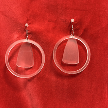Load image into Gallery viewer, For all the real heartbreakers out there - the teardrop earrings in frosted acrylic.