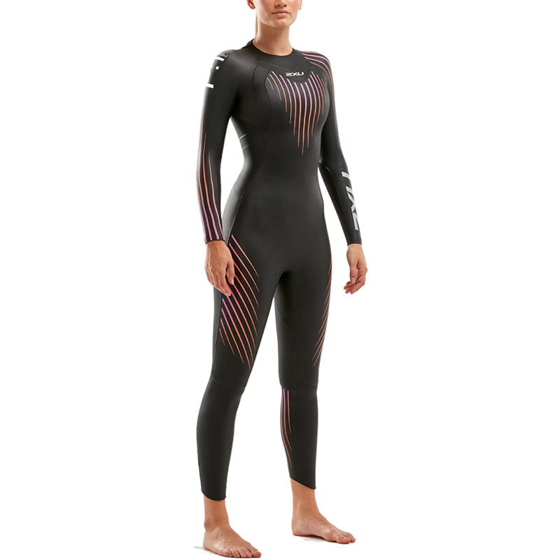 2XU - Womens P:1 Propel Wetsuit - Black/Sunset Ombre