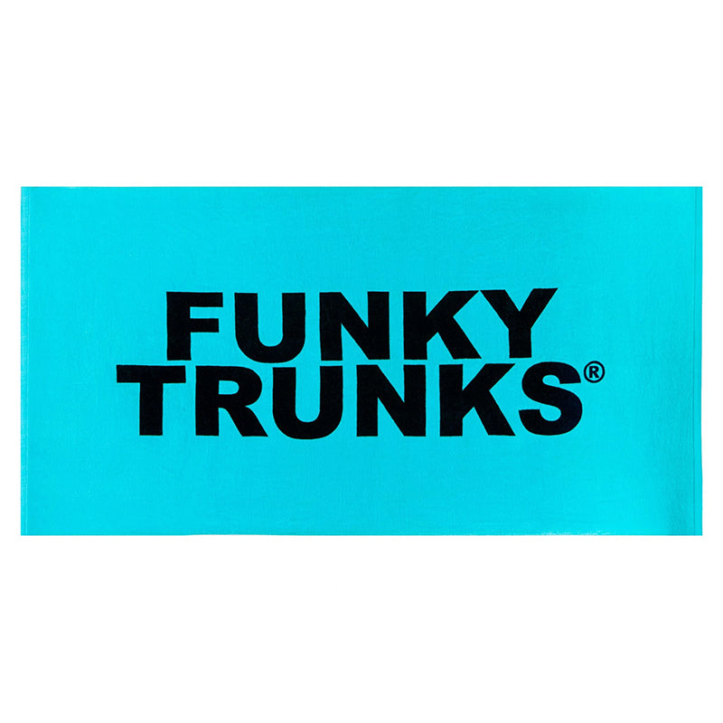 Funky Trunks - Still Lagoon Towel - Turquoise/Black