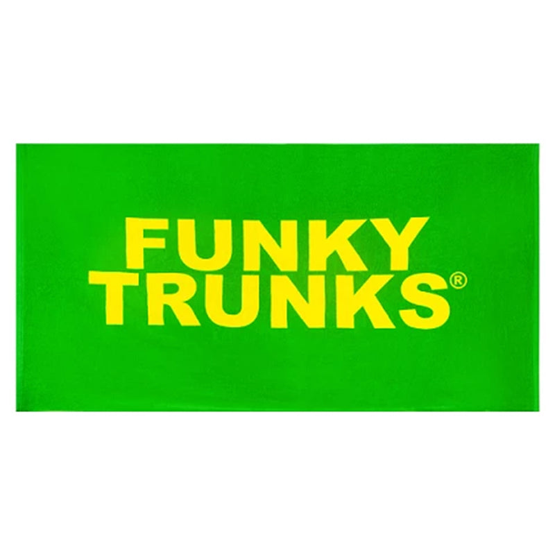 Funky Trunks Towel - Yellow and Green