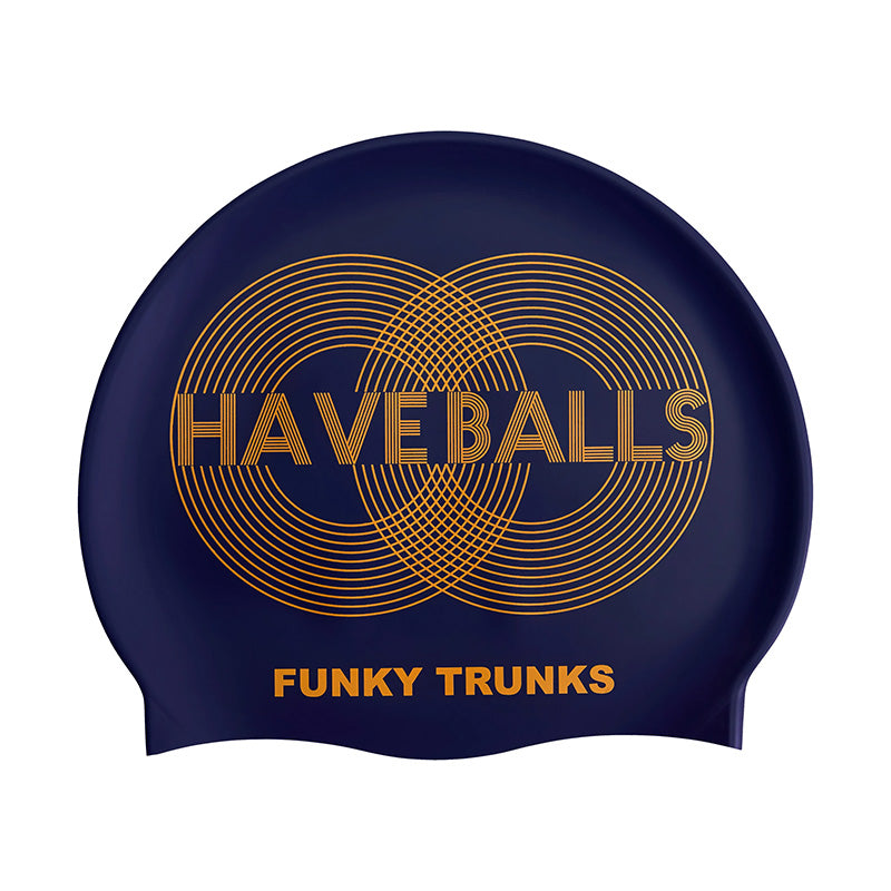 Funky Trunks - Golden Balls - Silicone Swimming Hat
