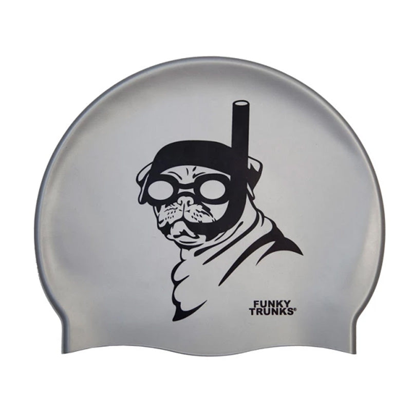Funky Trunks - Snorkel Pug Silicone Swim Hat