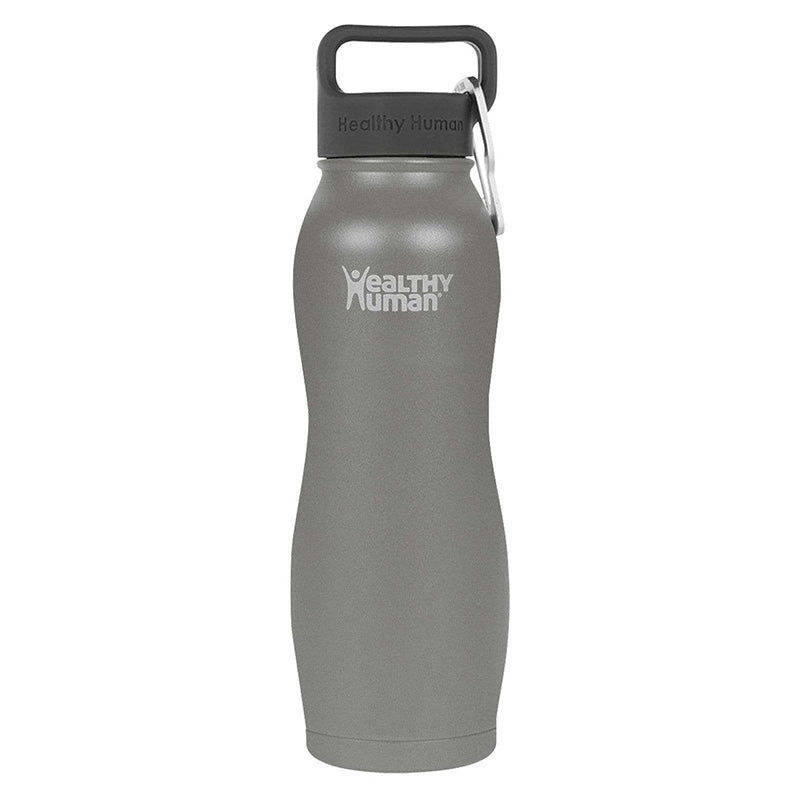 Healthy Human Curve Water Bottle - Slate Grey 21oz (620ml)