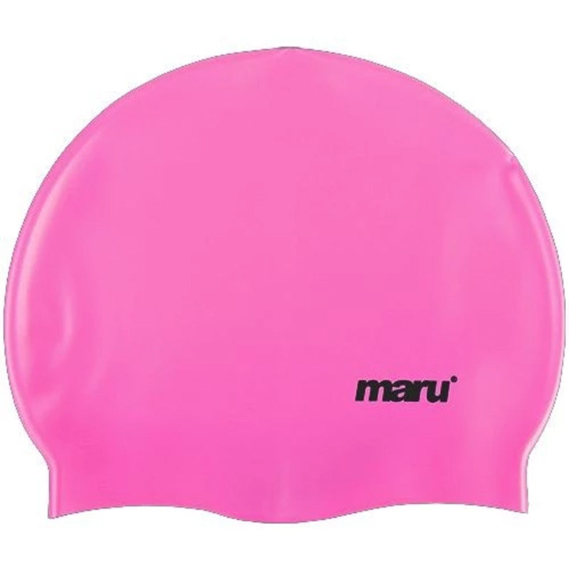 Maru - Plain Coloured Silicone Swim Hat - Pink