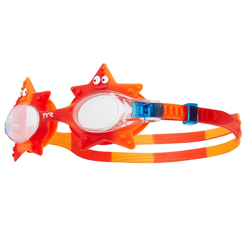 TYR - Kids' Swimple Starfish Goggle (Clear/Red 158)