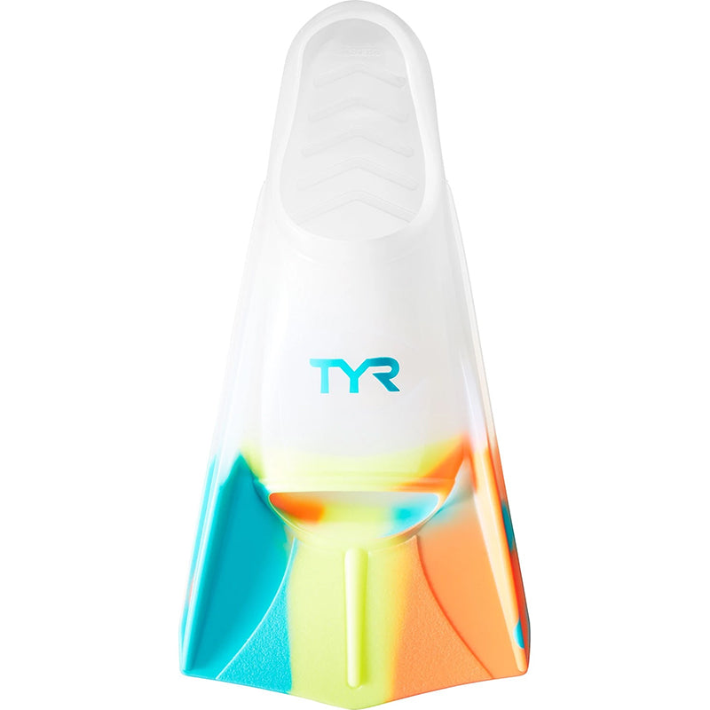 TYR - Stryker Silicone Fins - Small - Orange/Teal/Yellow/Clear