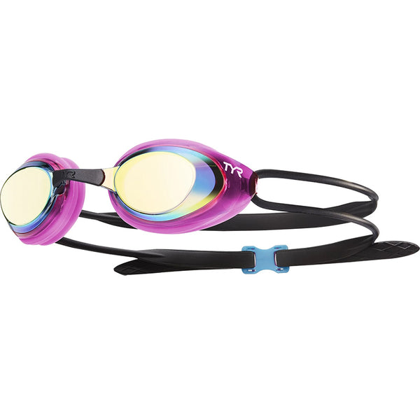 TYR - Blackhawk Racing Femme Mirrored Goggles - Gold/Pink/Black