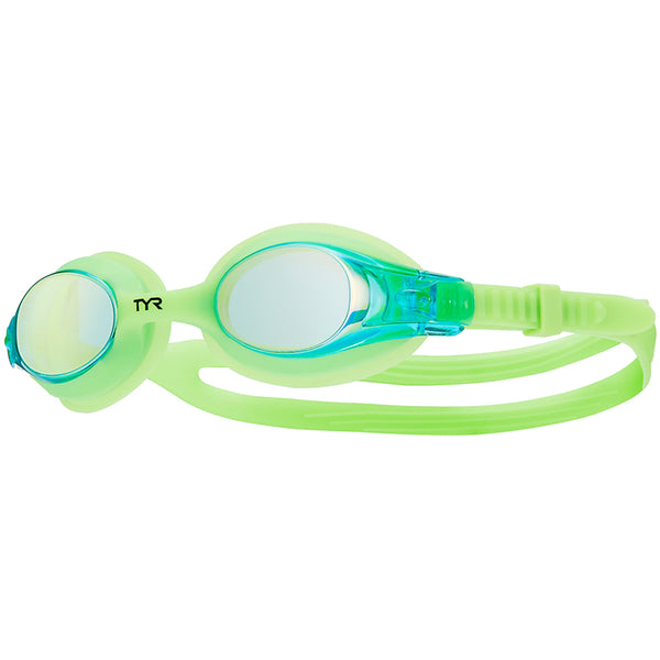 TYR - Kids Swimple Mirrored Goggles - Electric Lime
