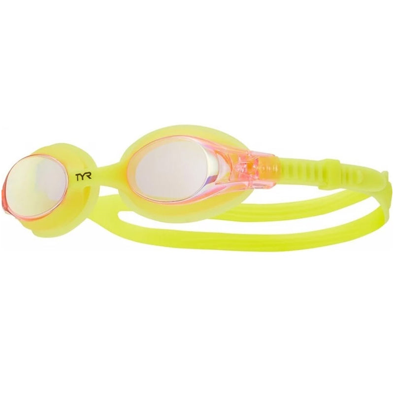 Tyr - Kids Swimple Mirrored Goggles Yellow Pink Yellow
