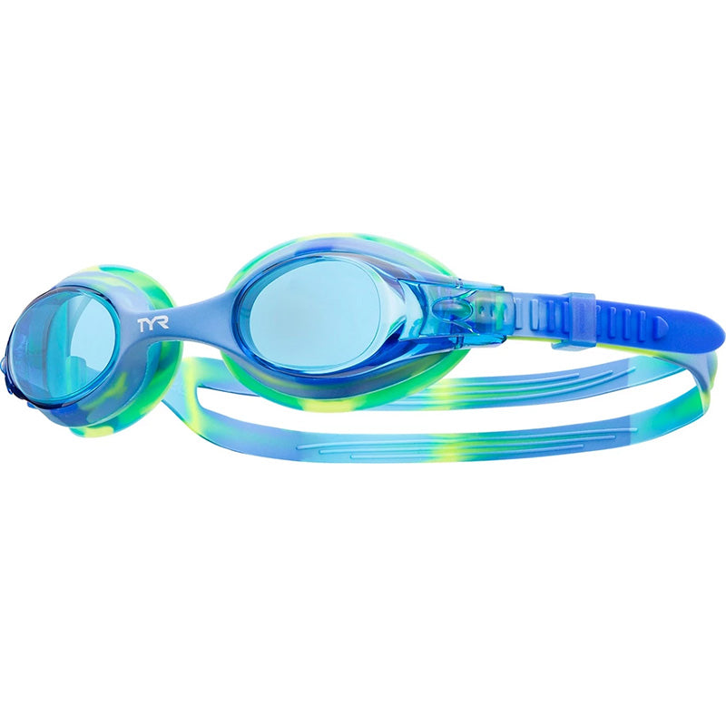 Tyr - Kids Swimple Tie Dye Goggles Blue/Green 487
