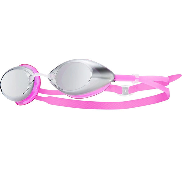 TYR - Tracer Racing Junior Metallized Mirrored Goggles - Titan/Pink