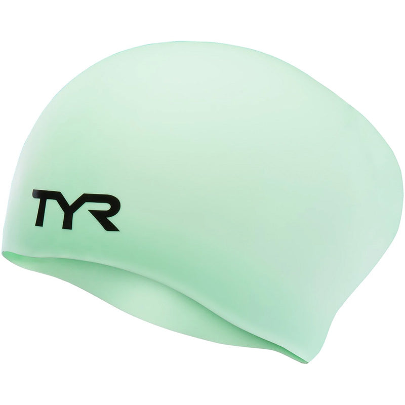 TYR - Long Hair Silicone Swim Hat - Mint
