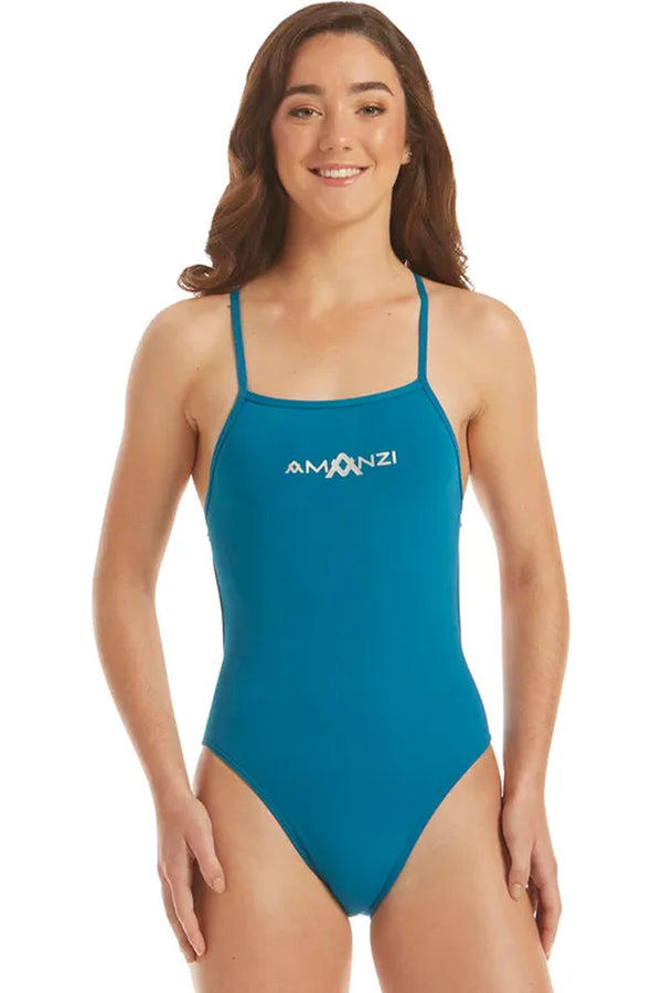 Amanzi -  Bermuda Tie Back Ladies One Piece Swimsuit