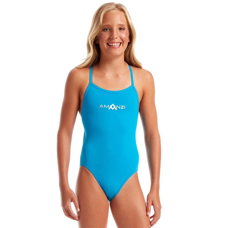 Amanzi - Calypso Tie Back Girls One Piece Swimsuit