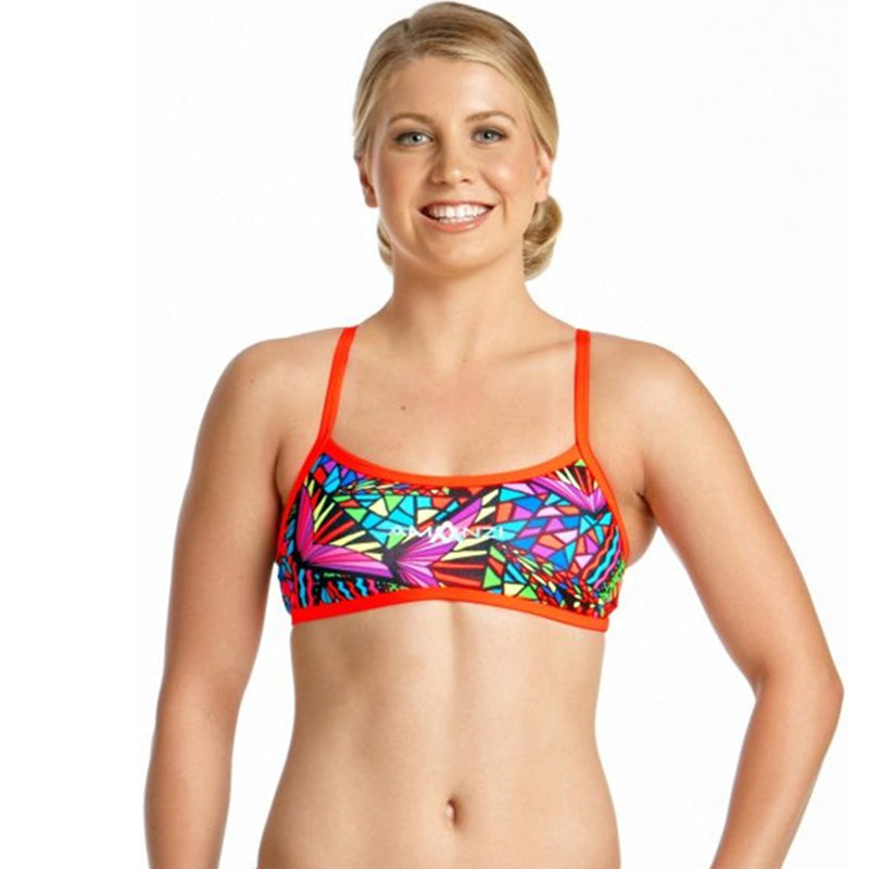 Amanzi - Candle Puzzle Ladies Bikini Sports Top