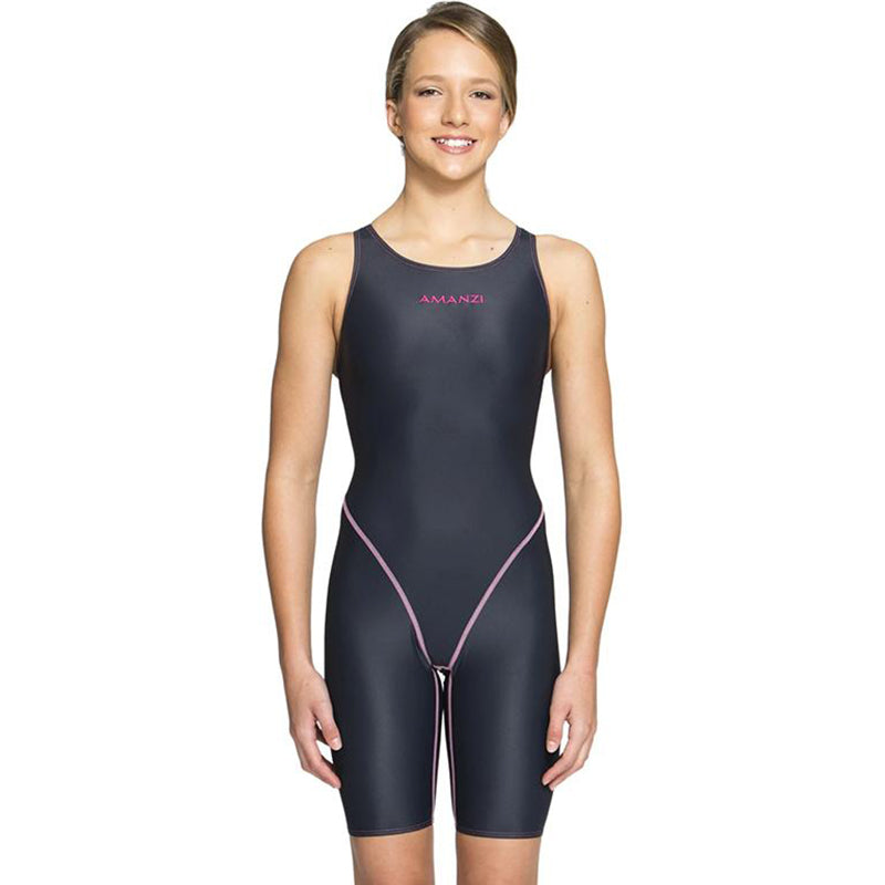 Amanzi - Acceler8 Titanium Girls Knee length Swimsuit