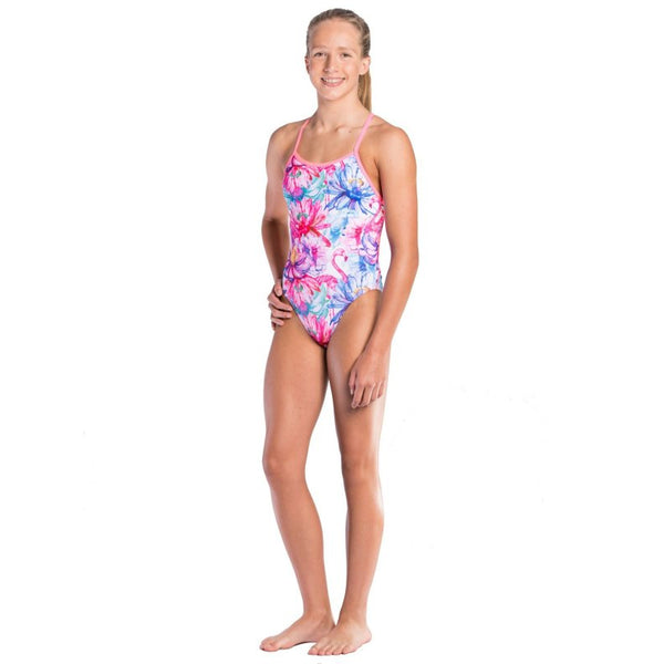 Amanzi - Dancing Lily Girls One Piece Swimsuit