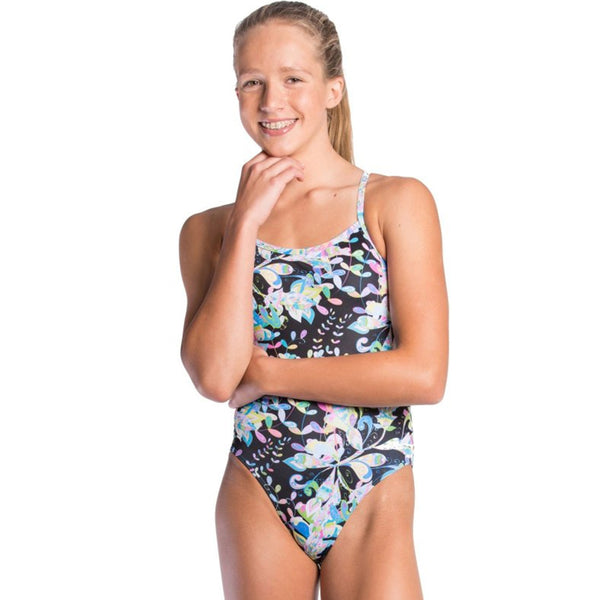 Amanzi - Fleur De Noir Girls One Piece Swimsuit